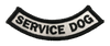 """Service Dog"" Rocker Patch - 100% Embroidered Nylon - Sewn In - Service Animal"