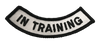 """""""In Training"""" Rocker Patch - 100% Embroidered Nylon - Sewn In - Service Animal"""