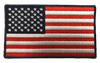 "American Flag Rectangular Patch - 100% Embroidered Nylon - Sewn In - 3.5 ""- Service Animal"