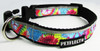 Tie Dye Patterned Dog Collar - Reflective - Nylon - Super Strength