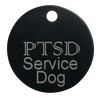 "PTSD Service Dog Smart ID Tag - 3.5"" Round Tag - Service Dog"