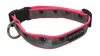 New England Patriots Dog Collar - Reflective - Pink Nylon - Super Strength - NFL Team Logos