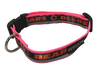Chicago Bears Dog Collar - Reflective - Pink Nylon - Super Strength - NFL Team Logos
