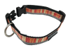 Orange Vertically Striped Dog Collar - Reflective - Nylon - Super Strength