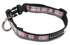 Pink Purple Vertically Striped Dog Collar - Reflective - Nylon - Super Strength