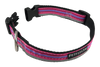 Pink Purple Horizontally Striped Dog Collar - Reflective - Nylon - Super Strength