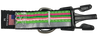 Green Pink Horizontally Striped Dog Collar - Reflective - Nylon - Super Strength