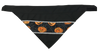 Halloween Pumpkins in Spider Webs - Reflective Dog Bandana - One Size to Fit Medium to Large Dogs