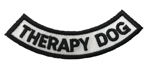 """Therapy Dog"" Rocker Patch - 100% Embroidered Nylon - Sewn In - Service Animal"