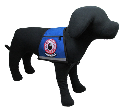 Service Dog, Please Don't Pet Me Reflective Vest - Includes Please Don't Pet Me, I'm Working Patch and Service Dog Rocker Patch - Reflective Strip