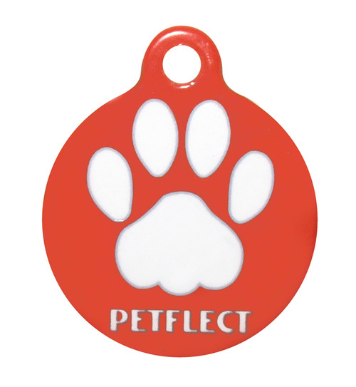 "Premium Smart ID Tag - 3.5"" Round Tag - Petflect"