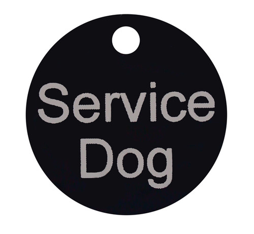 "Service Dog Smart ID Tag - 3.5"" Round Tag - Service Dog"