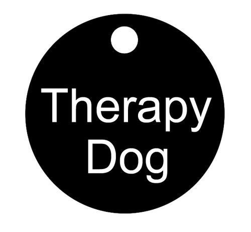 """Therapy Dog Smart ID Tag - 3.5"""" Round Tag - Therapy Dog"""