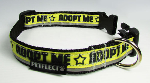 Adopt Me Dog Collar - Reflective - Nylon - Super Strength