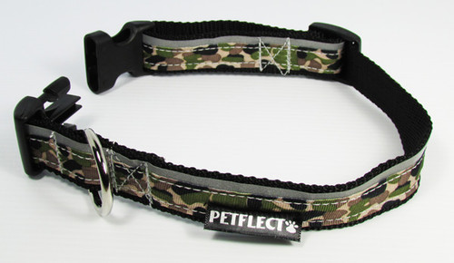 Camouflage Patterned Dog Collar - Reflective - Nylon - Super Strength