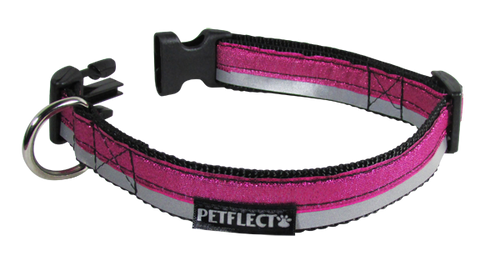 Shimmer Patterned Dog Collar - Reflective - Nylon - Super Strength