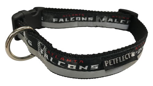 Atlanta Falcons Dog Collar - Reflective - Nylon - Super Strength - NFL Team Logos