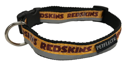 Washington Redskins Dog Collar - Reflective - Nylon - Super Strength - NFL Team Logos