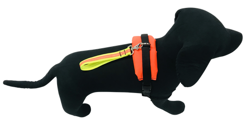 Doggy Styled Reflective Dog Harness - Padded Back - Reflective Strips - 3 D-ring Connections