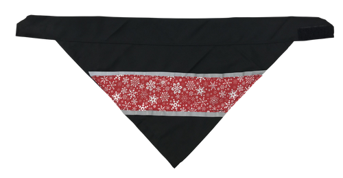 Snow Flakes - Reflective Dog Bandana - One Size to Fit Medium to Large Dogs