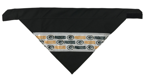 Green Bay Packers - Reflective Dog Bandana - One Size to Fit Medium to Large Dogs