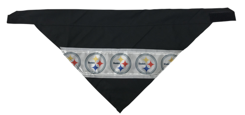 Pittsburgh Steelers - Reflective Dog Bandana - One Size to Fit Medium to Large Dogs