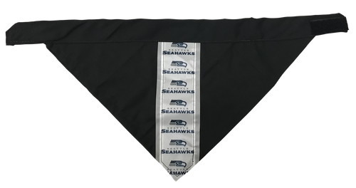 Seattle Seahawks - Reflective Dog Bandana - One Size to Fit Medium to Large Dogs