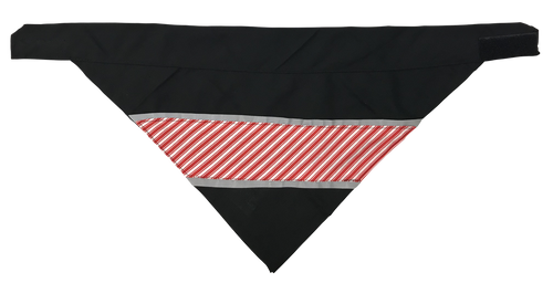 Candy Cane Stripes - Reflective Dog Bandana - One Size to Fit Medium to Large Dogs