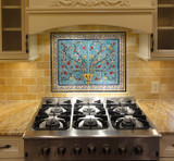 With yellow floral border tiles, 24 x 30 inches