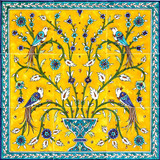 Birds of paradise tile mural, 18x18 inches