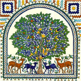The tree of life tile mural, 18 x18 inches
