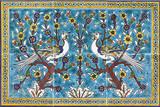 Light blue birds mural, 12 x 18 inches