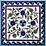 Floral pattern, dark blue
