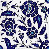 Blue & white floral pattern