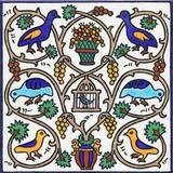 Birds in vine tree ceramic tile