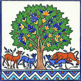 Tree of life accent tile