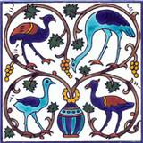 Birds in vine tree tile