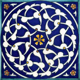 Cobalt blue arabesque design