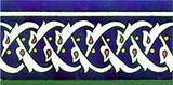 Cobalt blue border tile