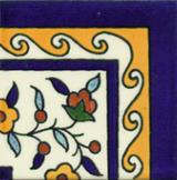 Floral yellow corner tile