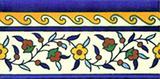 Armenian floral ceramic border tile