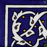 Cobalt blue corner tile