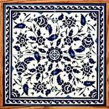 Blue & white floral design