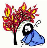 Moses & the burning bush