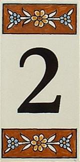 Brown house number tile