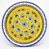 Yellow floral bowl with traditional design