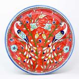 Red peacocks bowl