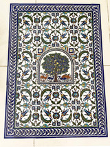 Ambassador tree of life tile mural layout, 30 x 42 inches