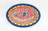 Pink floral oval dish