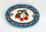 Red cherries oval dish